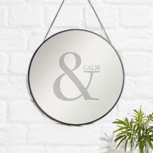 & Calm Engraved Mirror