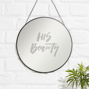 His Beauty Engraved Mirror