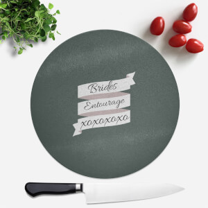 Brides Entourage Round Chopping Board