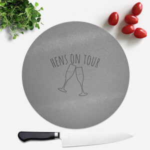 Hen's On Tour Round Chopping Board