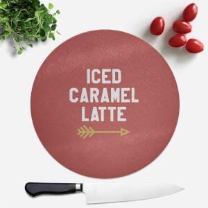 Iced Caramel Latte Round Chopping Board