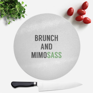 Brunch And Mimosass Round Chopping Board