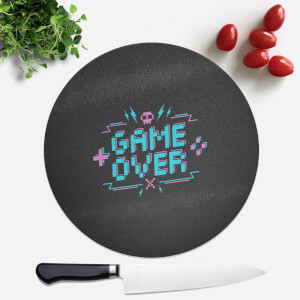 Game Over Gaming Round Chopping Board