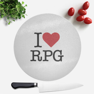 I Love RPG Round Chopping Board