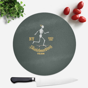 Skateboarding Team Round Chopping Board