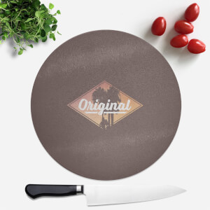 Original Palm Trees Round Chopping Board
