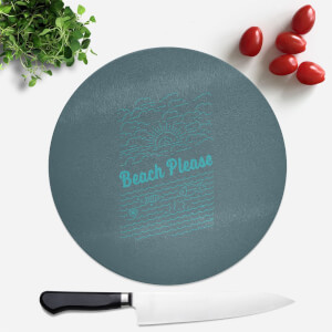 Beach Please Round Chopping Board