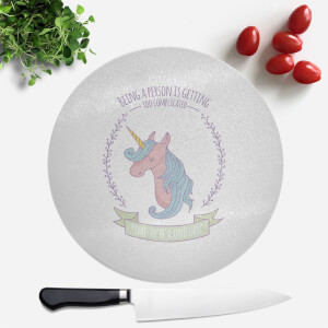 Time To Be A Unicorn Round Chopping Board