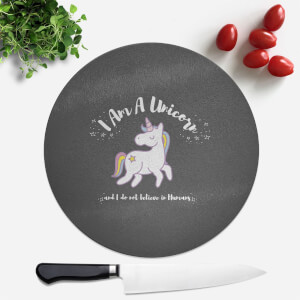 I Am A Unicorn Round Chopping Board