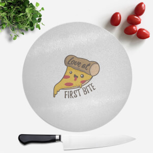 Love At First Bite Round Chopping Board