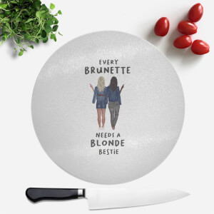 Pressed Flowers Every Brunette Needs A Blonde Bestie Round Chopping Board