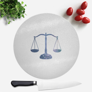 Pressed Flowers Libra Round Chopping Board