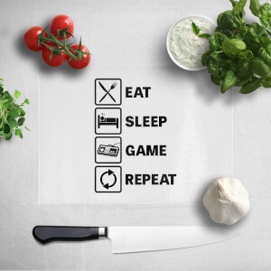 Eat Sleep Game Repeat Chopping Board