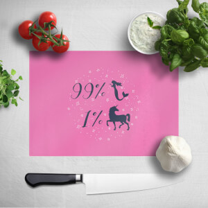 99% Mermaid 1 % Unicorn Chopping Board