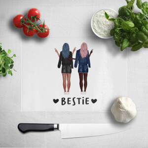 Pressed Flowers Besties Chopping Board