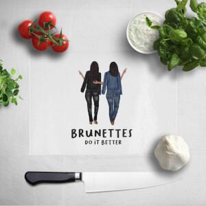 Pressed Flowers Brunettes Do It Better Chopping Board