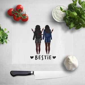 Pressed Flowers Bestie Chopping Board