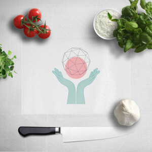 Pressed Flowers Enlightenment Chopping Board