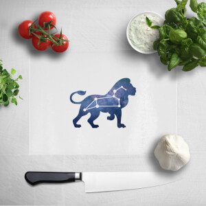Pressed Flowers Leo Chopping Board