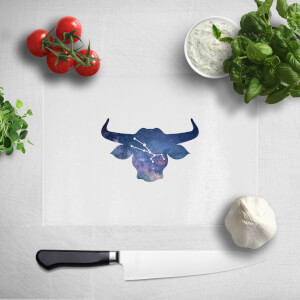 Pressed Flowers Taurus Chopping Board