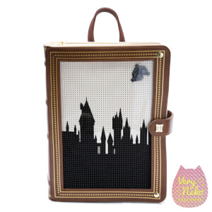 Loungefly Harry Potter Hogwarts Book Pin Collector Mini Backpack - VeryNeko Exclusive