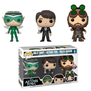 Figurines Pop! Holly, Artemis Et Mulch 3-Pack EXC - Disney Artemis Fowl