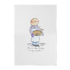 You're The Sizzle In My Roast! Cotton Tea Towel - White