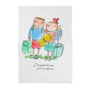 Competitive Campers Cotton Tea Towel - White
