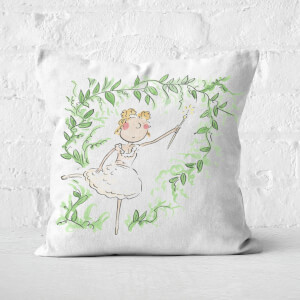 Beauty Dances With Spindle Square Cushion