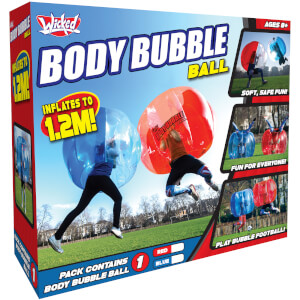 Wicked Vision Body Bubble Ball - Large Inflatable Outdoor Game - Red
