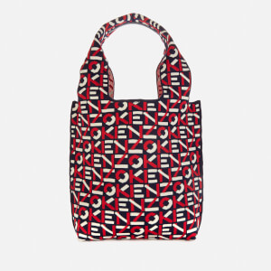 KENZO Women's Recycled Monogram Small Tote Bag - Medium Red
