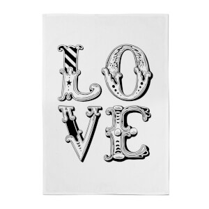 The Motivated Type Love Cotton Tea Towel - White