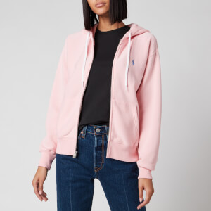 Polo Ralph Lauren Women's Zip Up Hooded Sweatshirt - Resort Pink