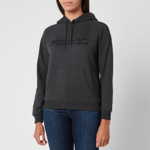 Polo Ralph Lauren Women's Hooded Logo Sweatshirt - Black Mask