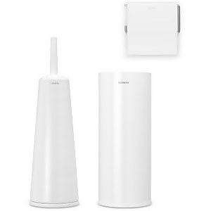 Brabantia Toilet Accessories - White (Set of 3)