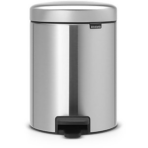 Brabantia New Icon Pedal Recycling Bin - 2 x 2 Litre - Matt Steel