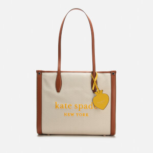 Kate Spade New York Women's Market Canvas Medium Tote Bag - Natural