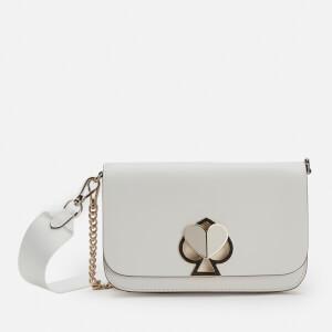 Kate Spade New York Women's Nicola Twistlock Medium Convertible Cross Body Bag - Optic White