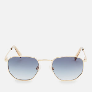 Le Specs Women's Alto Metal Frame Sunglasses - Bright Gold Smoke