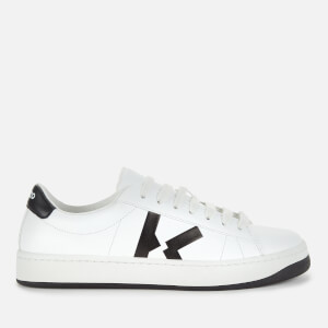 KENZO Women's Logo Leather Low Top Trainers - White