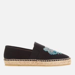 KENZO Women's Tiger Head Canvas Espadrilles - Black