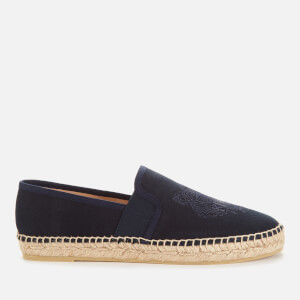 KENZO Women's Tiger Head Canvas Espadrilles - Navy