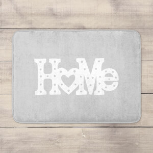 Home Typographic Bath Mat