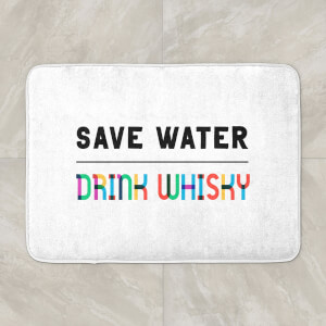 Save Water, Drink Whisky Bath Mat