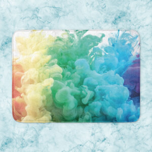 Rainbow Smoke Bath Mat