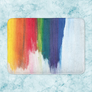 Rainbow Smudge Bath Mat