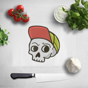 Baseball Cap Skull Chopping Board