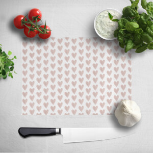 Pink Hearts Chopping Board