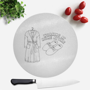 Working At Home Attire Round Chopping Board