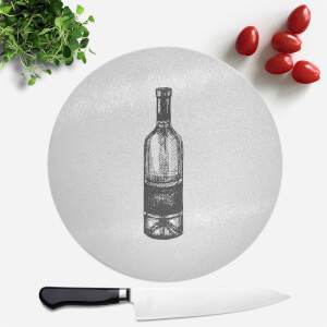 Wine Bottle Round Chopping Board